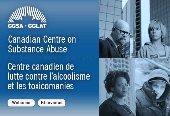 Image from Canadian Centre on Substance Abuse (CCSA) Homepage